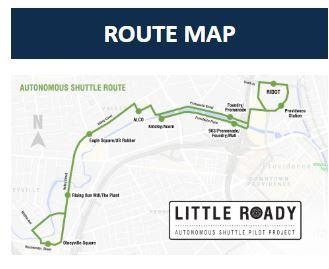 Roady self-driving shuttle in Rhode Island