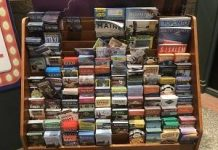 Tourist brochure rack