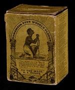 A box used to collect donations for slaves in Massachusetts
