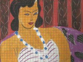 Lady on an invitation card