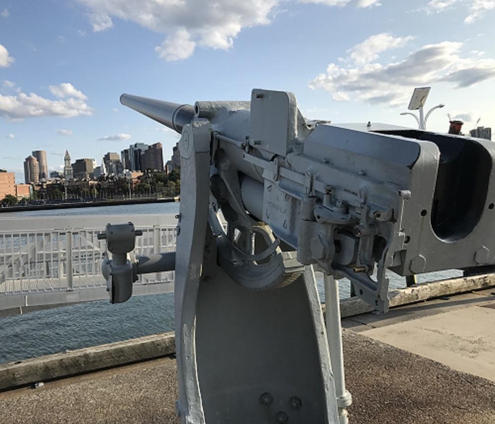 Guns facing Boston