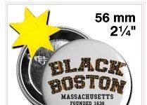 Black Boston Button